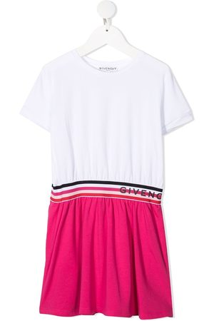 Givenchy Logo tape colour-block T-shirt dress