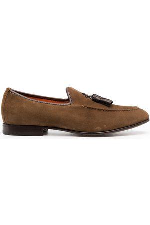 santoni Tassel-detail suede slippers