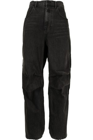 Alexander Wang Pack Mix Hybrid high-waisted straight jeans