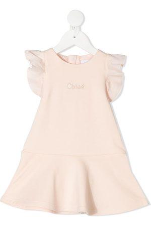 Chloé Baby Casual Dresses - Ruffled short-sleeved mini dress