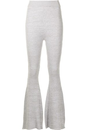 Anna Quan Gerrie flared knit trousers - Grey