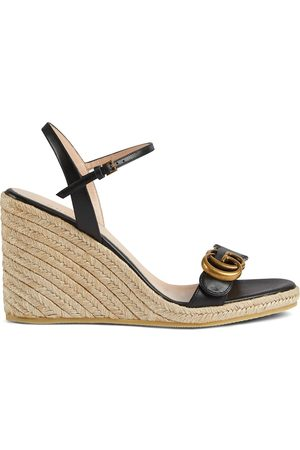 Gucci Aitana 85mm espadrille wedge sandals