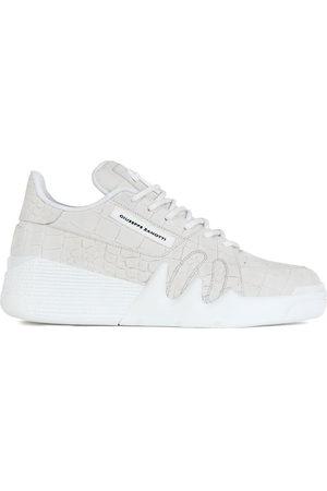 Giuseppe Zanotti Crocodile effect sneakers - Grey