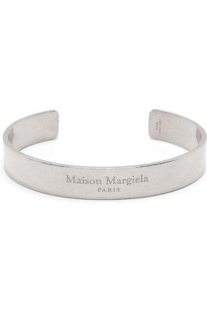 Maison Margiela Men Bracelets - Logo engraved cuff bracelet