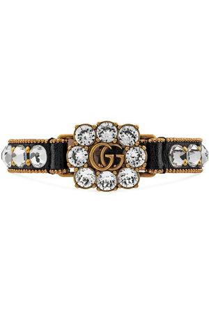 Gucci Double G crystal-embellished bracelet