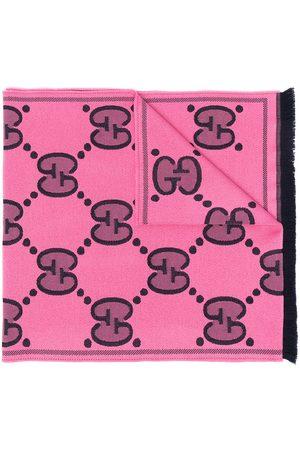 Gucci Women Scarves - GG Supreme logo-print scarf