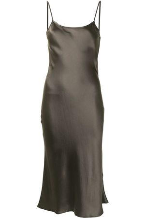 Voz Midi silk slip dress