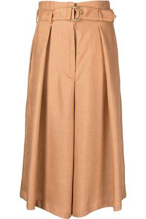 Atu Body Couture Women Culottes - Pleated cropped culottes - Neutrals