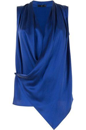 Voz Asymmetric silk blouse