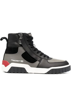 Diesel Men Sneakers - Panelled high-top sneakers