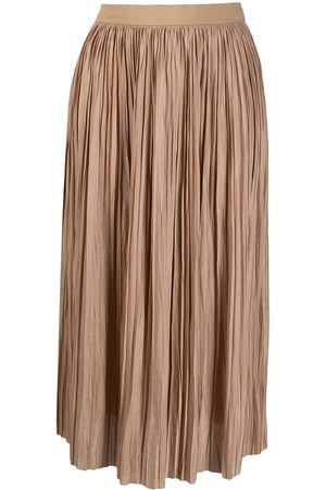 Roberto Collina High-rise pleated midi skirt - Neutrals