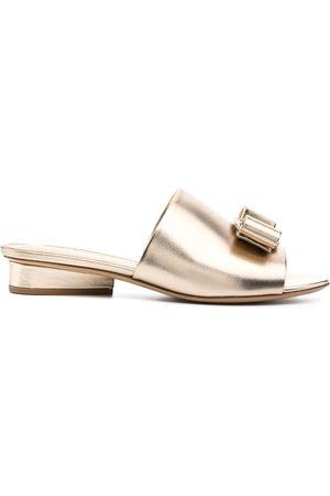 Salvatore Ferragamo Women Sandals - Viva Bow slide sandals