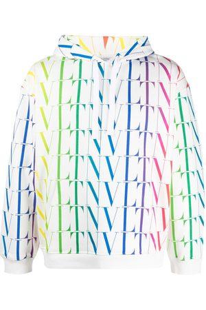 VALENTINO Men Hoodies - VLTN logo-print hoodie