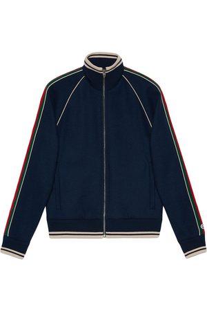 Gucci Men Jackets - Cashmere zip-up jacket