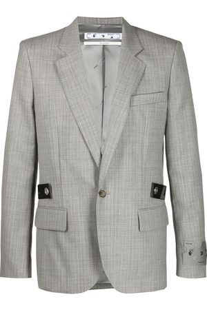 OFF-WHITE Single-breasted tailored blazer - Grey