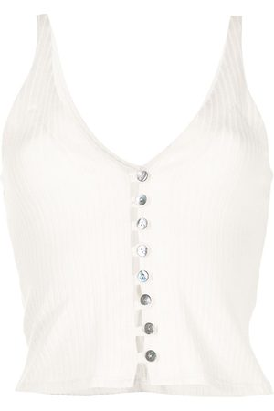 Reformation Women Tank Tops - Ribbed button-up vest