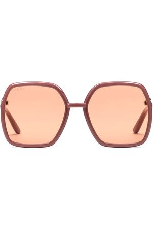 Gucci Oversize-frame tinted-lens sunglasses