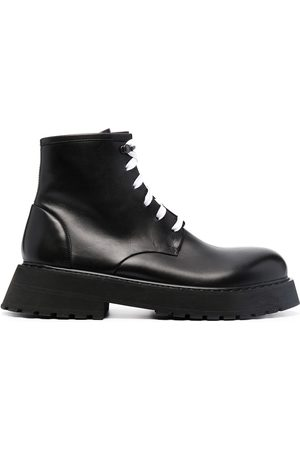 MARSÈLL Men Ankle Boots - Lace-up leather ankle boots