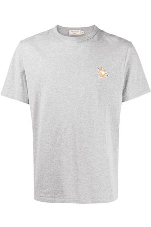 Maison Kitsuné Logo patch T-shirt - Grey
