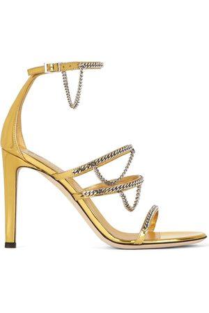 Giuseppe Zanotti Metallic chain-trim sandals