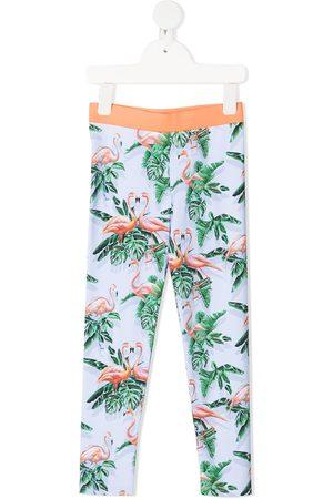 Stella McCartney Girls Leggings - Flamingo-print leggings