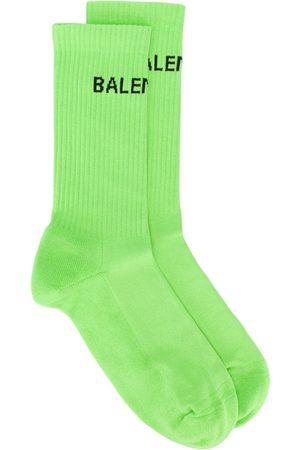 Balenciaga Men Socks - Logo high socks