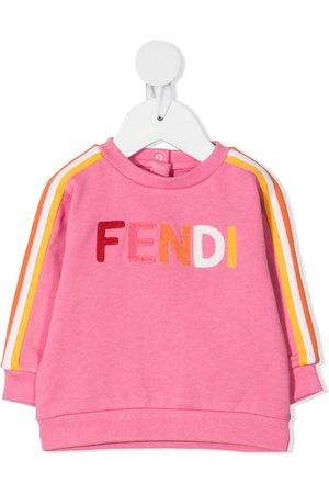 Fendi Hoodies - Logo-appliquéd sweatshirt