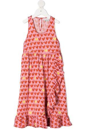 Stella McCartney Girls Dresses - Frilled heart stripe dress