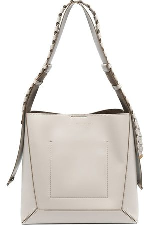 Stella McCartney Interwoven-strap detail shoulder bag - Neutrals