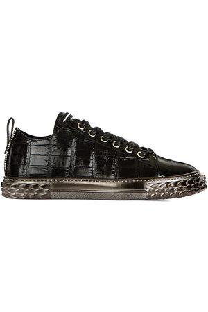 Giuseppe Zanotti Croco-embossed low-top sneakers
