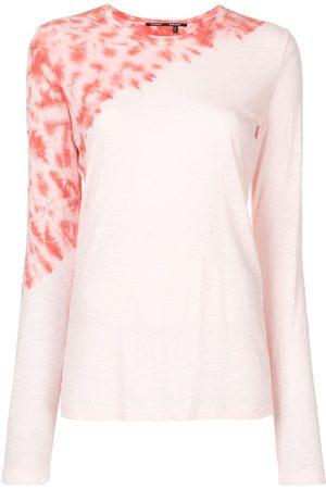 Proenza Schouler Women T-shirts - Tie-dye tissue jersey T-shirt