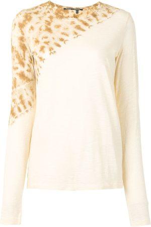 Proenza Schouler Tie-dye long sleeve T-shirt - 112 ECRU TIE DYE