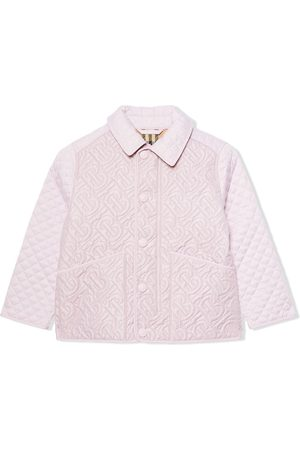 Burberry Puffer Jackets - TEEN monogram quilted jacket