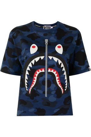 A BATHING APE® Camouflage Shark Stripe T-shirt