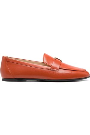Tod's Women Loafers - Logo plaque leather loafers