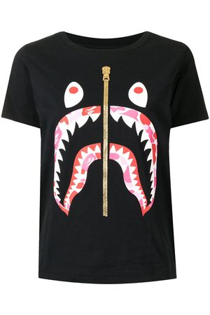 A BATHING APE® Women T-shirts - Shark-print cotton T-Shirt