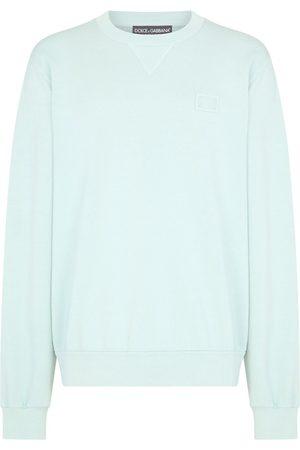 Dolce & Gabbana Men Sweatshirts - Logo plaque sweatshirt
