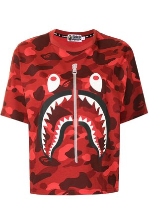 A BATHING APE® Shark-print cotton T-Shirt