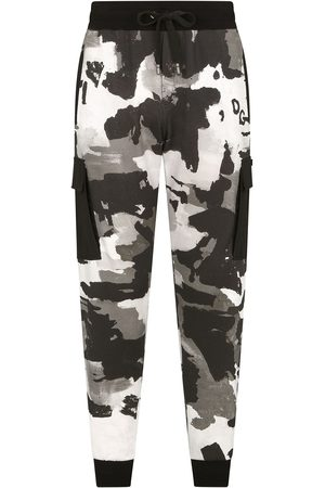 Dolce & Gabbana Men Sweatpants - Camouflage-pattern tapered track pants