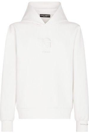 Dolce & Gabbana Men Hoodies - Logo-patch V-neck hoodie