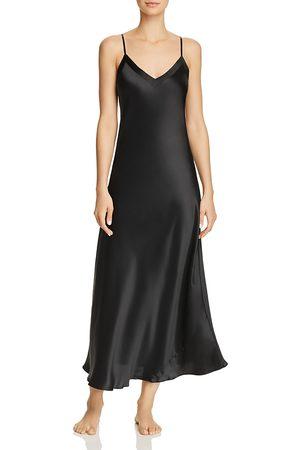 GINIA Women Nightdresses & Shirts - Silk V-Neck Nightgown
