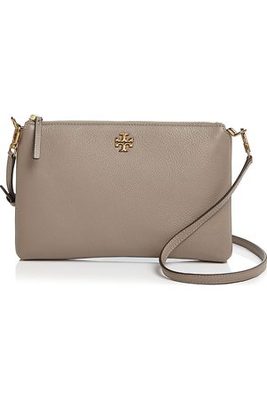 Tory Burch Kira Small Pebbled Leather Top-Zip Crossbody