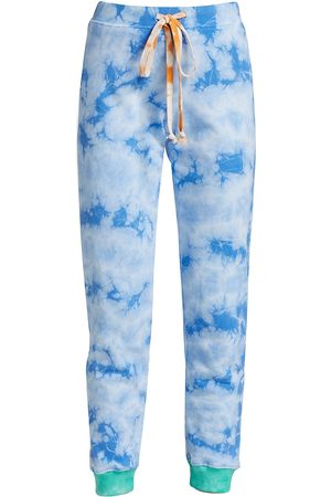 Warm Women's Tie-Dye Colorblock Sweatpants - Tie Dye - Size XS