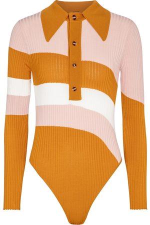DODO BAR OR Striped polo shirt bodysuit