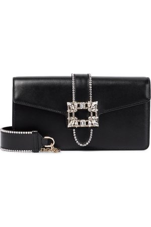 Roger Vivier Miss Vivier embellished leather shoulder bag