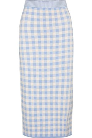 Altuzarra Billie checked high-rise midi skirt