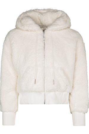 Adam Selman Sport Shrunken cropped faux fur hoodie
