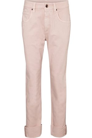 Brunello Cucinelli Embellished high-rise straight jeans