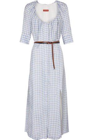 Altuzarra Checked midi dress