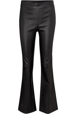 Helmut Lang High-rise flared leather pants